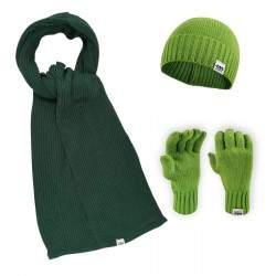 Dressa DRS kötött sapka sál kesztyű szett - zöld