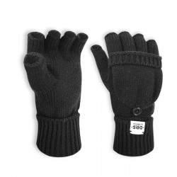 Dressa DRS lehajtható ujjú kesztyű - fekete