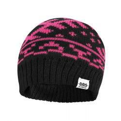 Dressa DRS norvég mintás belül polár sísapka - fekete - rózsaszín
