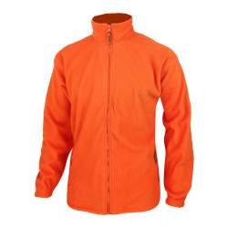 Dressa Forest nagyméretű cipzáros átmeneti polár dzseki - narancssárga