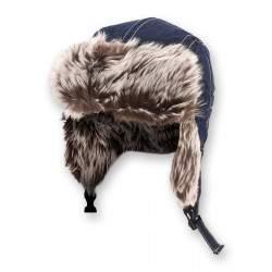 Dressa fülmelegítős szőrmés téli usánka sapka - sötétkék
