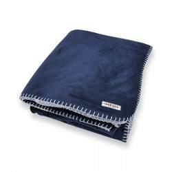 Dressa Home Sherpa szőrmés plüss takaró 130x180 cm - sötétkék
