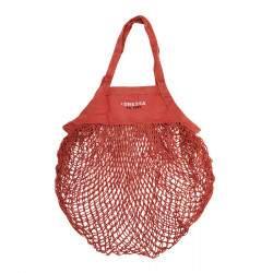 Dressa Shopping biopamut hálós bevásárló zsák - narancs