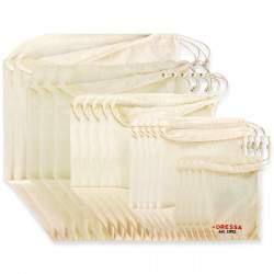 Dressa Shopping összehúzható biopamut textiltáska és szütyő haladó csomag - 20 db