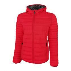 Dressa Sport esztétikai hibás steppelt női könnyű tokba hajtható kapucnis dzseki - piros