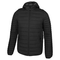 Dressa Sport nagyméretű steppelt férfi könnyű tokba hajtható kapucnis dzseki - fekete