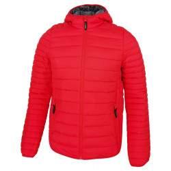 Dressa Sport nagyméretű steppelt férfi könnyű tokba hajtható kapucnis dzseki - piros