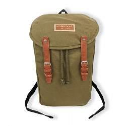 Dressa Vintage laptop vászon hátizsák - katonazöld