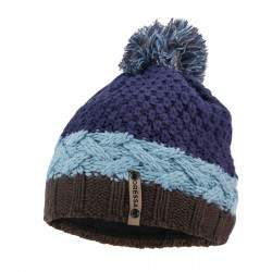 Dressa Winter bojtos kötött téli sapka polár fejpánttal - kék