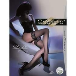 Gabriella 8720 Calze 15 csipkés combfix