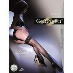 Gabriella 8735 Calze Linette 20 hátul csíkos combfix