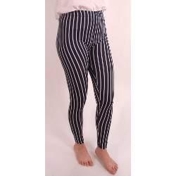 Gladys PD0968 sötétkék/fehér csíkos leggings