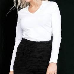 Kariban K329 női V-nyakú hosszú ujjú póló