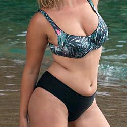 Bellissima Lanzarote pálma mintás bikini - C kosár