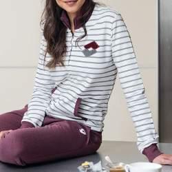 Lotto LA3004 női pamut pizsama - vajszín