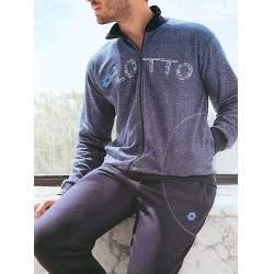 Lotto LA6001 férfi pamut pizsama - kék