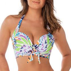 JPRESS trópusi mintás bikini felső