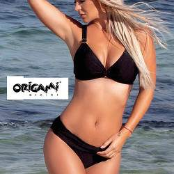 Origami D-945 nagyméretű háromszög bikini - fekete