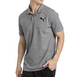Puma ESS Pique férfi galléros póló - szürke