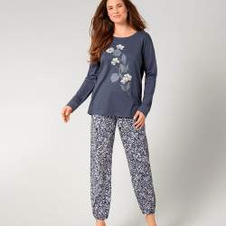 Triumph PK virágmintás hosszú ujjú női biopamut pizsama