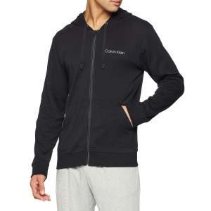 Calvin Klein férfi cipzáros kapucnis pulóver - fekete