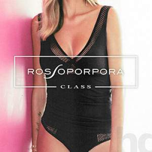 Rossoporpora CD640 női pamut csipkés trikó és tanga