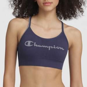 Champion Seamless Fashion Crop Top - indigókék