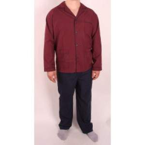 Diplomat WO501 férfi pizsama- bordó