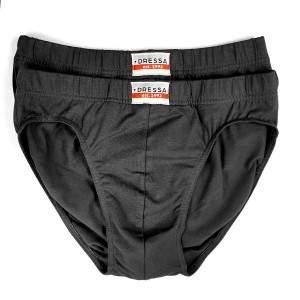 Dressa 102 pamut férfi alsónadrág - fekete - 2db