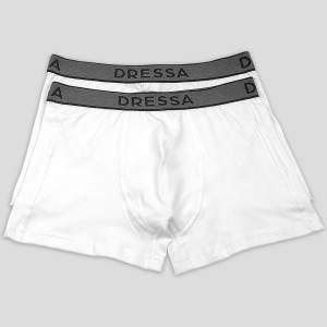 Dressa 132 pamut férfi boxeralsó - fehér - 2db