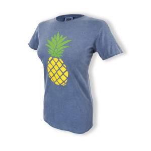 Dressa Pineapple Ananászos pamut női póló - farmerkék