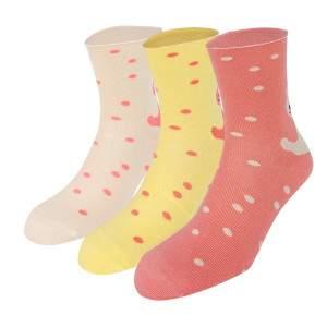 Dressa Bamboo avokádó olajos pöttyös női zokni - 3 pár