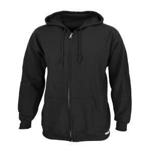 Dressa Basic nagyméretű cipzáros pamut kapucnis pulóver
