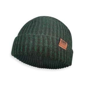 Dressa DRS Beanie kötött téli sapka - zöld-fekete