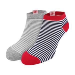Dressa DRS csíkos rövid szárú pamut zokni csomag - 2 pár