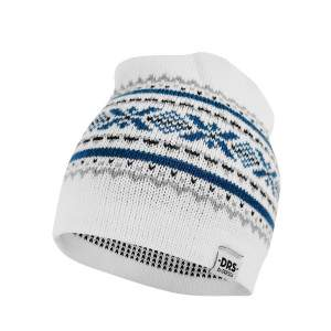 Dressa DRS norvég mintás kötött téli sapka - fehér