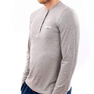 Dressa Collection férfi hosszú ujjú póló - szürke