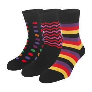 Dressa Geometry mintás zokni - 3 pár