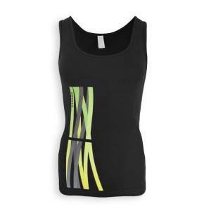 Dressa Lines Tank Top mintás női pamut trikó - fekete