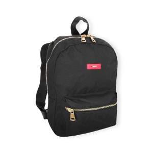 Dressa mini hátizsák fém cipzárral - fekete-arany