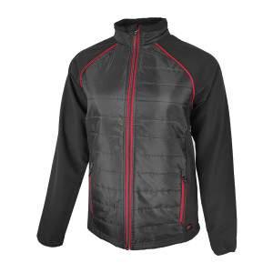 Dressa nagyméretű Softshell steppelt vékony vízálló női dzseki - fekete-piros