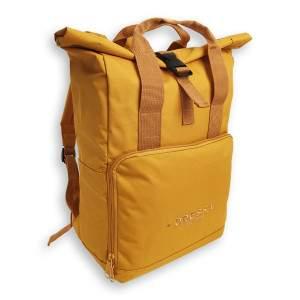 Dressa Rolltop csavart tetejű hátizsák - mustársárga