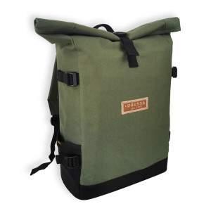 Dressa Rolltop laptoptartós csavart tetejű hátizsák - olíva