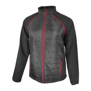 Dressa Softshell steppelt vékony vízálló női dzseki - fekete-piros