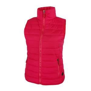 Dressa Sport könnyű steppelt cipzáros női mellény - pink