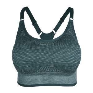 Dressa varrás nélküli kivehető szivacsos sportmelltartó - Pine Heather