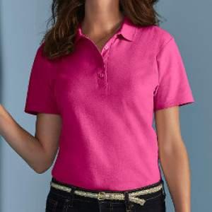 Gildan 64800L női galléros póló