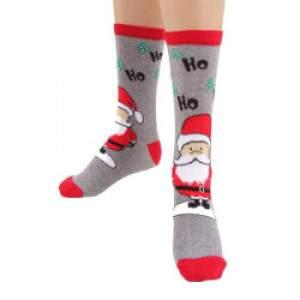 HDI Télapó mintás frottír zokni