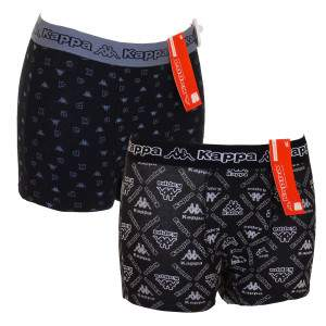 Kappa R4Y0 férfi pamut boxer - mintás/fekete - 2db