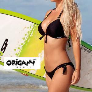 Origami PO-911 Push-Up háromszög bikini - fekete